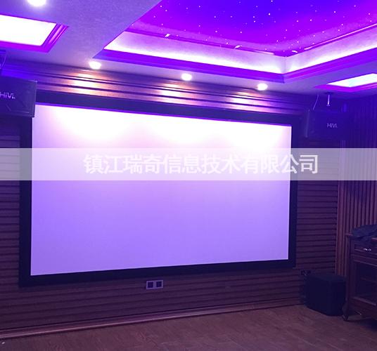 镇江某业主的地下室家庭影院+KTV系统